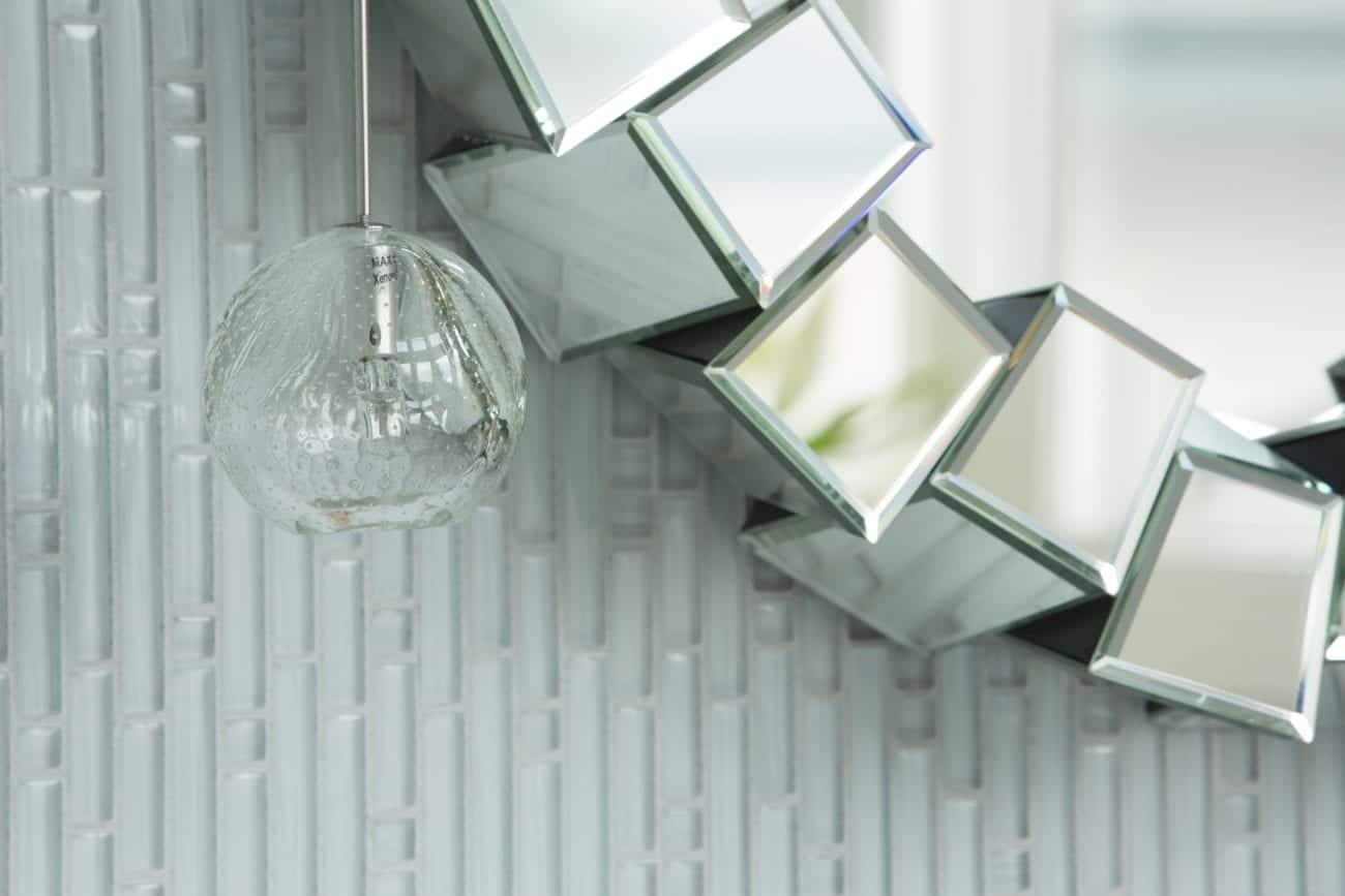 Hawthorne Tile | Glamorous White Tile Bathroom
