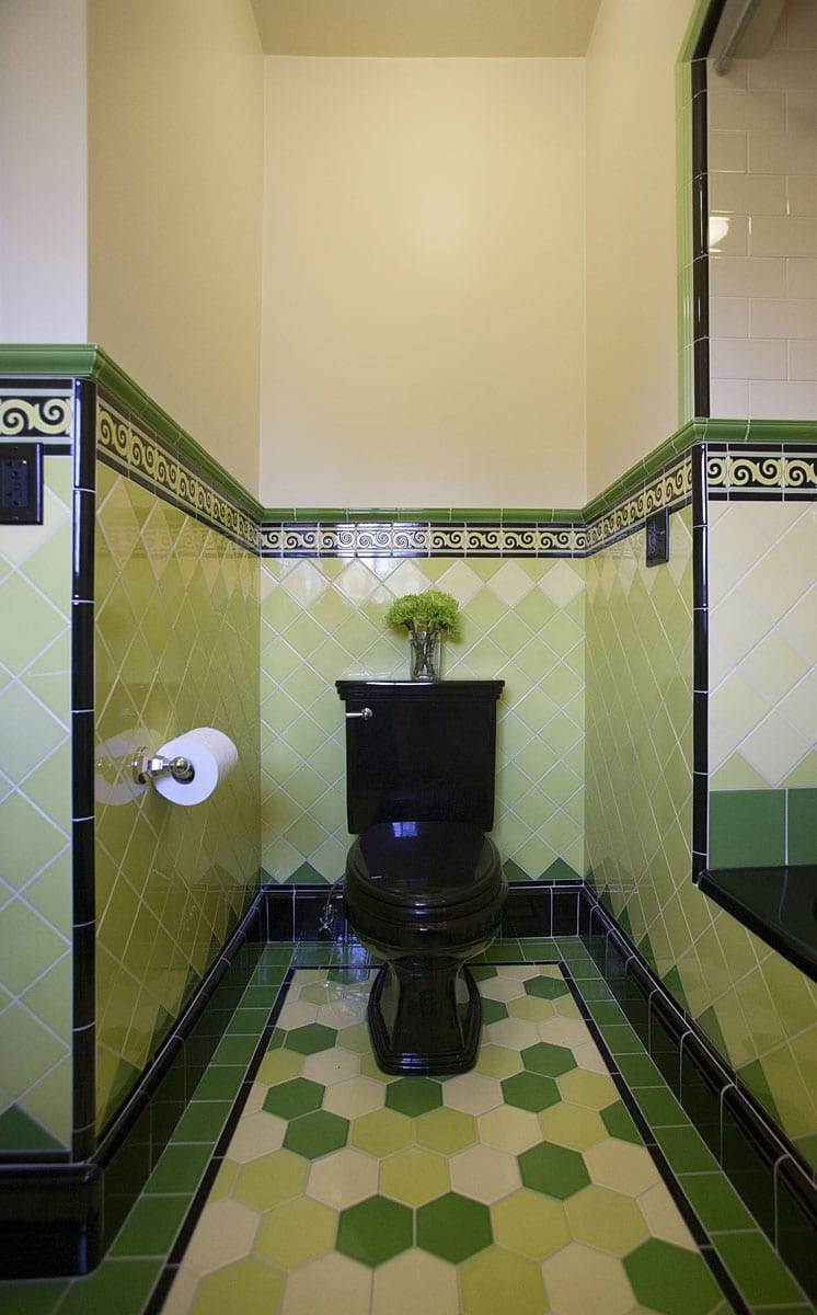This 1926 portland home was in desperate need of restoration especially the bathrooms none of the original tile was able to be saved with the exception of