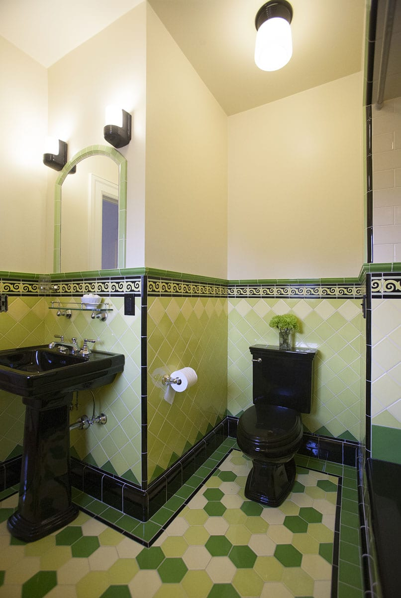 art deco tiles bathroom hawthorne tile colorful deco bathrooms 15441